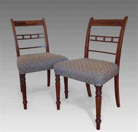six antique georgian mahogany bar back dining chairs