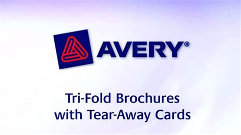 Avery Tri Fold Brochure With Tear Away Cards 50 Avery Tri Fold Brochure With Tear Away Cards 8 5 X 11