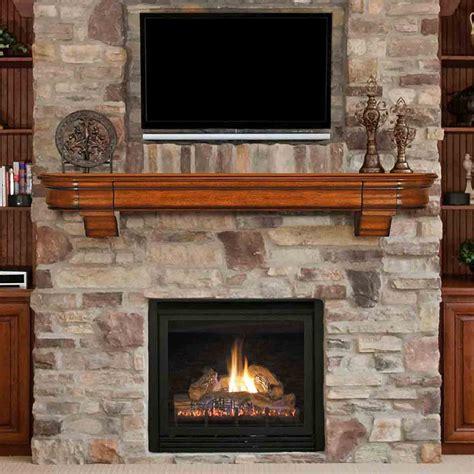 72 Abingdon Distressed Medium Oak Finished Fireplace