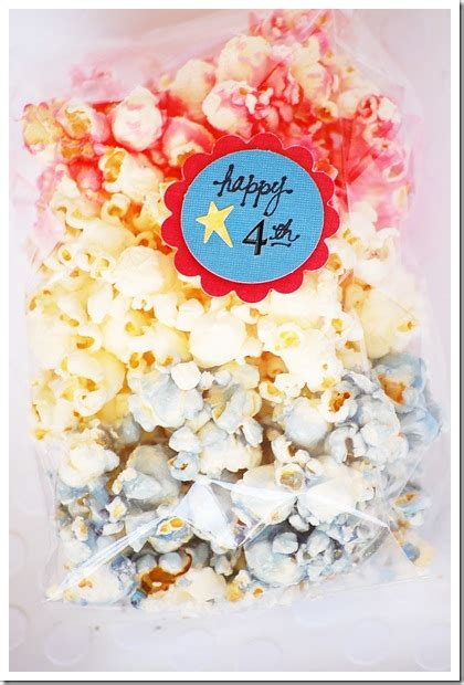 red white  blue candied popcorn  idea room