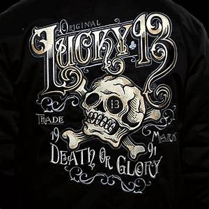 Lucky 13 Ye Olde Death Or Glory Men's Lined Work Garage ...