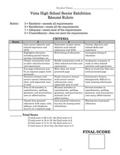 Resume Rubric by Technical Writing Resume Cover Letter Rubric Erin S