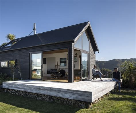 small modern floor plans a bach style studio with gob smacking views of wellington