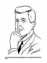 Coloring Presidents Kennedy Pages John Sheets History American Jfk Usa Print Printables President Printable Colouring United Sheet Kid States Presidential sketch template