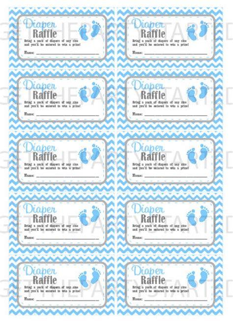 diaper raffle  printable baby shower raffle