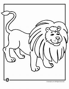 Free cartoon lion coloring pages