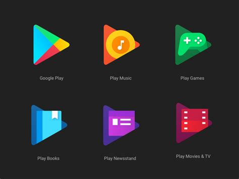 play apps new play app icons sketch freebie free