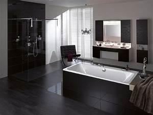 inspiration une salle de bains noire inspiration bain With salle de bain grise et noire
