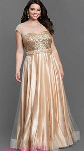 Gold plus size prom dresses 2016 trends for Formal dress for wedding plus size