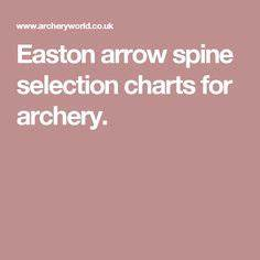 Carbon Express Heritage Spine Chart Arrow Selection