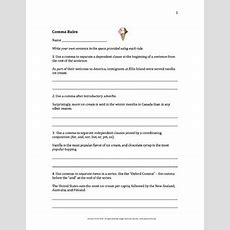Comma Rules Worksheet By Laura Torres  Teachers Pay Teachers