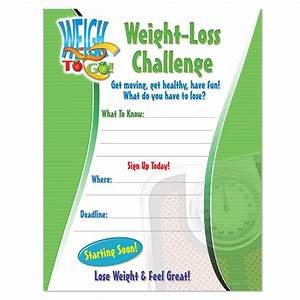 Weight-Loss Challenge Laminated Poster Positive Promotions