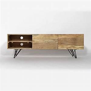 Meuble Tv Pied Metal : meuble tv pied metal maison et mobilier d 39 int rieur ~ Teatrodelosmanantiales.com Idées de Décoration