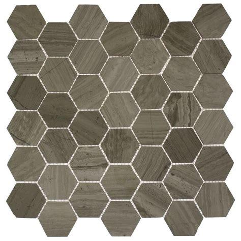 mosaic hexagon floor tile splashback tile hexagon wooden beige 12 in x 12 in x 8 mm mosaic floor and wall tile hexagon