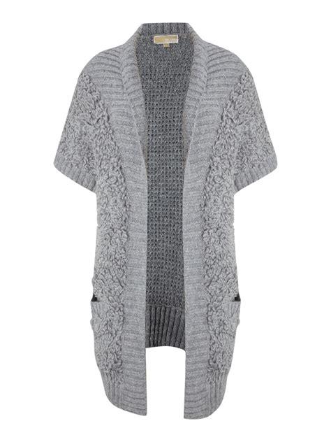 michael michael kors short sleeve loop knit cardigan
