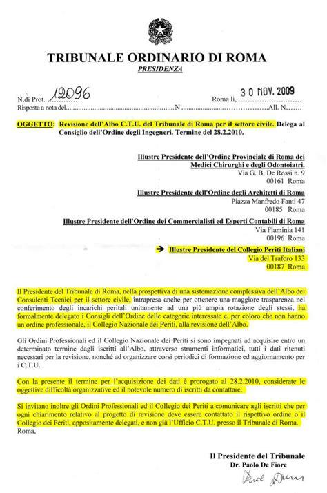 Consulenti Tecnici D Ufficio by Tribunale Di Roma Bonifica Albo Dei Consulenti Tecnici D