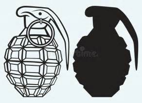 Image Of An Manual Grenade Stock Vector  Illustration Of