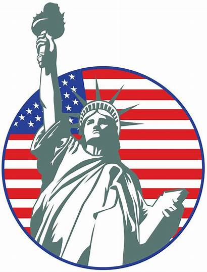 Liberty Statue Clip Clipart Usa Stamp Crown