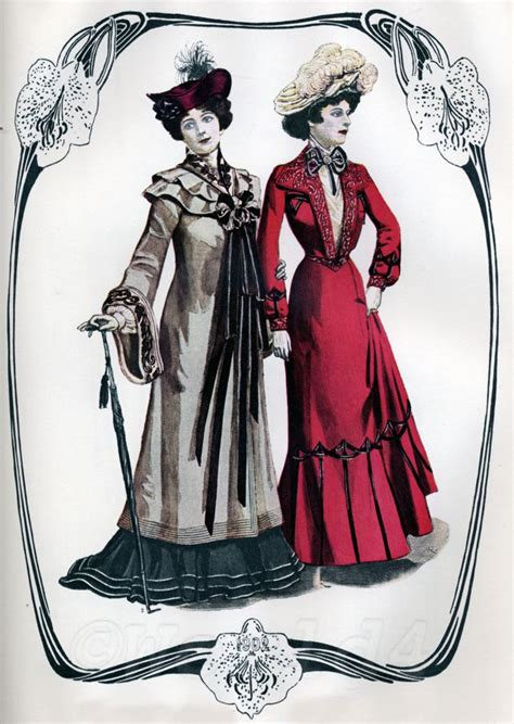 art nouveau belle epoque fashion