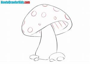 How to draw a mushroom for kids | How to Draw for Kids