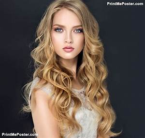 Blonde Fashion Girl With Long And Shiny Curly Hair
