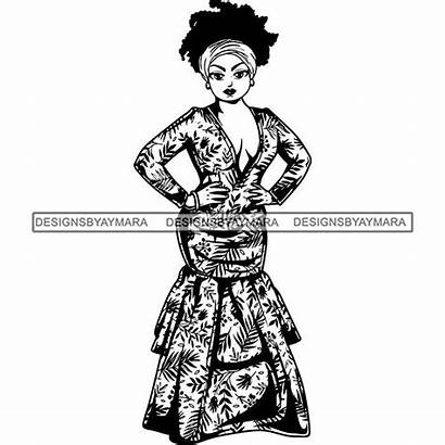 Diva Silhouette Svg Cutting Glamour Afro Lola