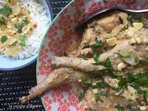 lapin de cuisine curry de lapin aux amandes blogs de cuisine