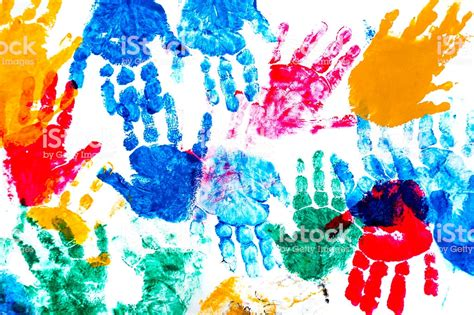 Selbstgemalte Bilder Kindern by Colorful Prints Of Childrens Stock Photo More