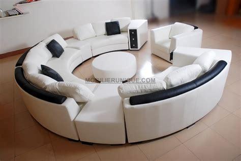 canapé d angle arrondi pas cher canapé d 39 angle en cuir italien en rond design et pas cher
