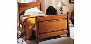 Dimension Lit Une Personne : lit pour une personne meubles de normandie ~ Teatrodelosmanantiales.com Idées de Décoration