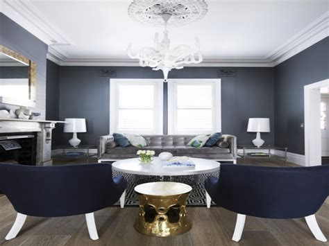 Old world french decor, navy blue and gray grey white and