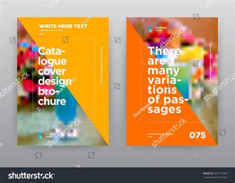 Flyer Brochure Design Template Abstract Fruit Stock Vector Cocktail Orange Yellow Cafe Restaurant Fruit Stock Vector