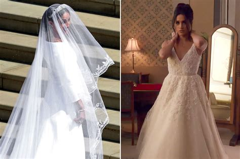 Markle Wedding Dress :  Comparing Her Royal Wedding Dress To Suits