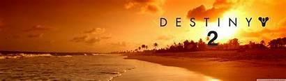 Destiny Monitor Dual Desktop Screen Wallpapers Beach