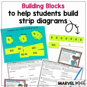 Hands-on Strip Diagrams With Multi-step Multiplication Problems - Marvel Math