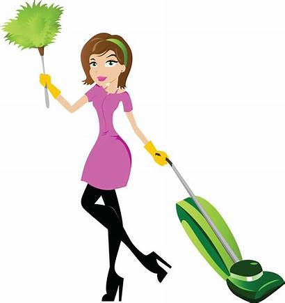 Clipart Cleaning Cliparts Clip Lady Cartoon Woman