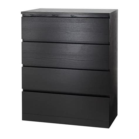 Ikea Malm Dresser - malm 4 drawer chest black brown ikea
