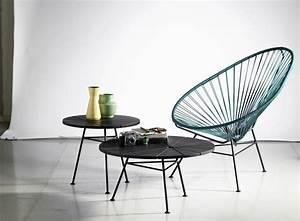 Fauteuil Acapulco Jaune : fauteuil bas condesa noir ok design pour sentou edition ~ Teatrodelosmanantiales.com Idées de Décoration