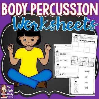 body percussion worksheets   bulletin board lady