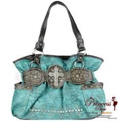 designer wholesale western designer inspired bag w rhinestone and stud decor and a flip buckle closure
