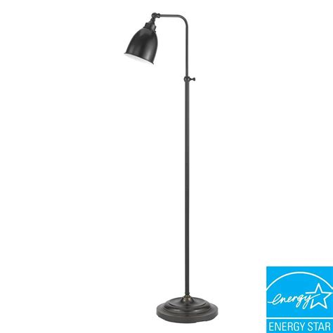 bronze pharmacy floor l cal lighting 62 in dark bronze metal adjustable pharmacy