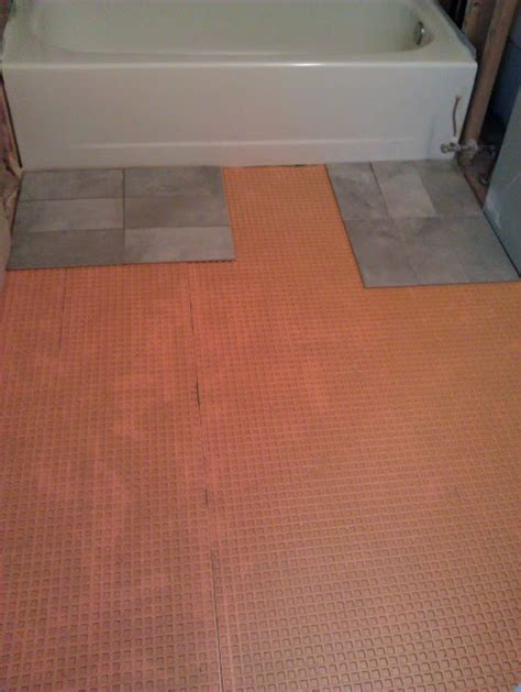 Tile Underlayment Membrane Orange by Food Fashion Home Diy Master Bathroom Renovation Part Ii