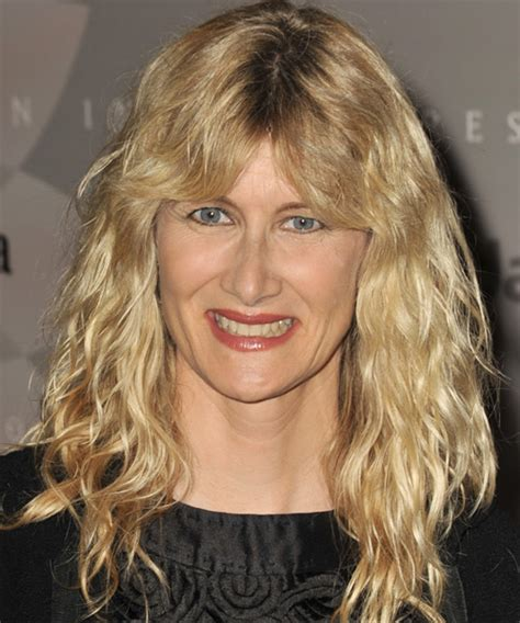 laura dern casual long wavy hairstyle
