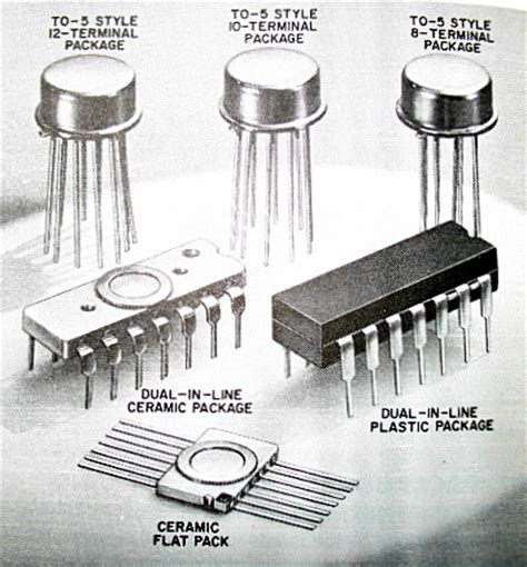Integrated Circuit Package Types Vintage Computer Chip