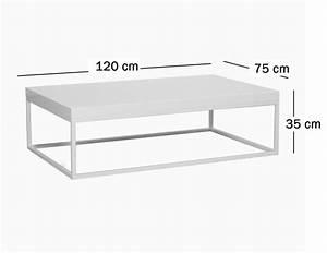 Table Basse Rectangulaire Blanche : table basse rectangulaire blanche table basse dessus verre objets decoration maison ~ Teatrodelosmanantiales.com Idées de Décoration