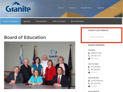 new granite school district website