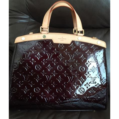 louis vuitton brea gm monogram vernis patent leather