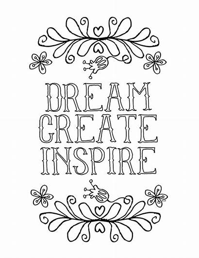 Coloring Inspirational Pages Printable Books Sayings