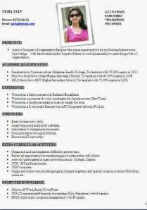 free resume templates india cv format sle in word