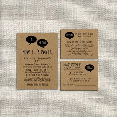 diy wedding invitation suite deposit printable custom